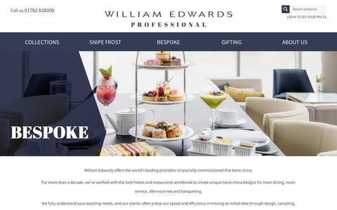 Screenshot of Case Studies Page williamedwards.co.uk - Bespoke Hospitality - captured Oct. 20, 2018