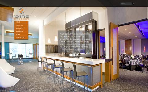 Screenshot of Home Page wirebydesignco.com - Wire By Design Co. Wire By Design Co. - captured Jan. 26, 2015