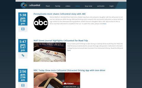 Screenshot of Press Page cellcontrol.com - Newspage - Cellcontrol - captured July 19, 2014