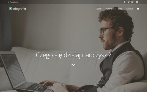 Screenshot of Home Page edugrafia.pl - Kursy wideo, szkolenia, tutoriale video - captured Sept. 8, 2016