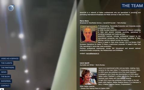 Screenshot of Team Page benacom.it - www.benacom.it ,  THE TEAM - captured Sept. 30, 2014