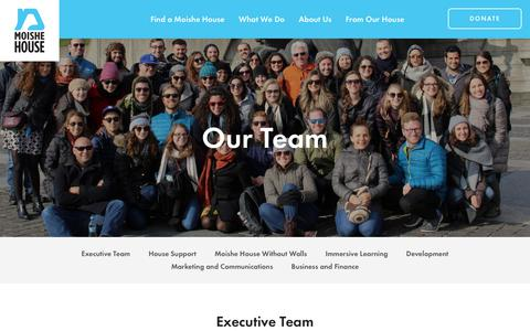 Screenshot of Team Page moishehouse.org - Our Team | Moishe House - captured Dec. 7, 2018