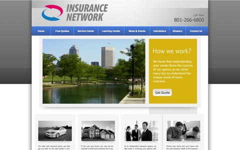 Screenshot of Maps & Directions Page insurancenetworklc.com - Insurance Network LC auto insurance  Salt Lake City, homeowners . Agency Locations - captured Oct. 2, 2014