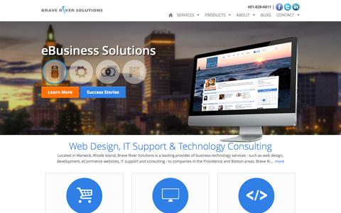 Screenshot of Home Page Privacy Page braveriver.com - Web Design, IT Support & Consulting in RI – Brave River Solutions - captured Oct. 5, 2014