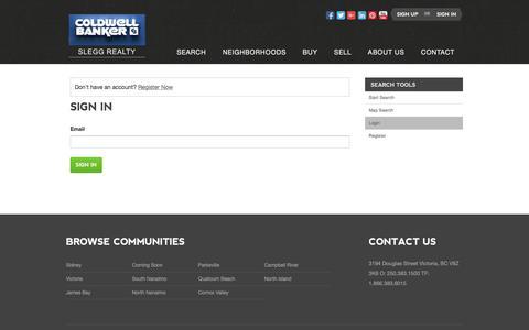 Screenshot of Login Page sleggrealty.com - Sign In - captured July 5, 2017