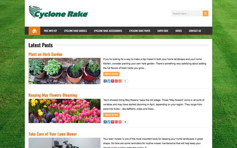 Screenshot of Blog cyclonerake.com - Cyclone Rake Blog - captured Oct. 22, 2017