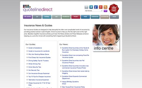 Screenshot of Press Page quotelinedirect.co.uk - Quoteline Direct | Insurance Guides & Company News - captured Dec. 4, 2016
