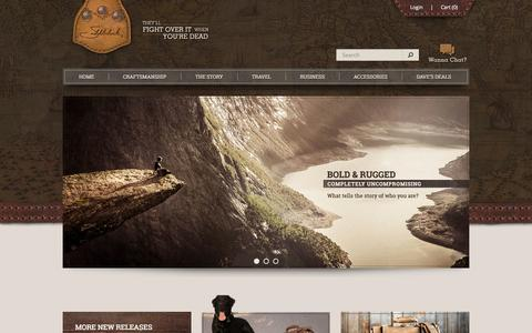 Screenshot of Home Page saddlebackleather.com - Saddleback Leather Co. - captured Sept. 19, 2014