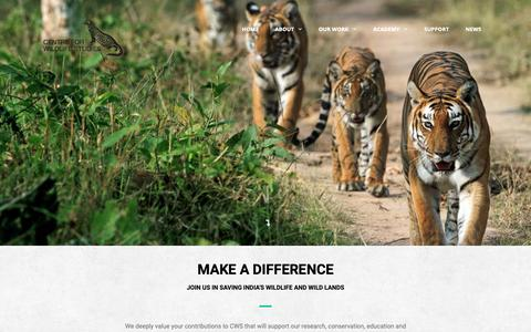 Screenshot of Contact Page Support Page cwsindia.org - Support - Centre for Wildlife Studies - captured Oct. 30, 2018