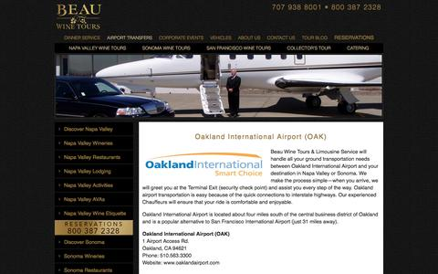 Transportation from Oakland Airport to Napa Valley or Sonoma
