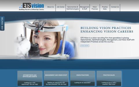 Screenshot of Home Page etsvision.com - ETS Vision - captured Sept. 27, 2014