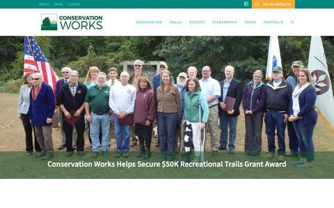 Screenshot of Home Page conservationworksllc.com - Home | Conservation Works - captured Dec. 11, 2015