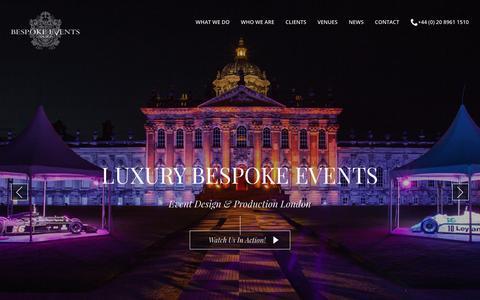 Bespoke Events London  |  Event Design & Production Company