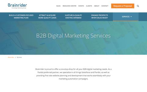 B2B Digital Marketing Services - Brainrider