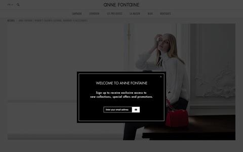Screenshot of Home Page annefontaine.fr - Anne Fontaine | Women's Tailored Clothing, Handbags & Accessories - captured Jan. 27, 2015