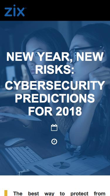 Webinar | Cybersecurity Predictions for 2018