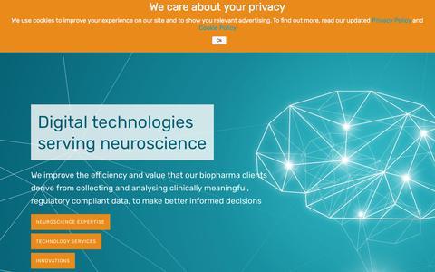 Screenshot of Home Page ixico.com - IXICO – Digital technologies serving neuroscience - captured Aug. 26, 2018