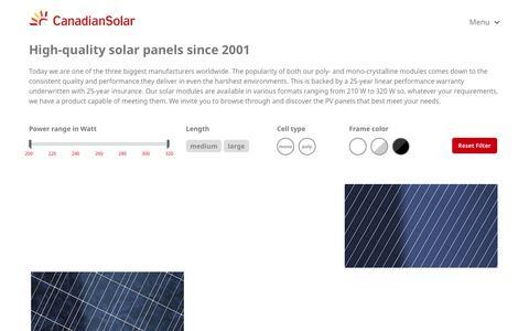 Canadian Solar - Solar panels