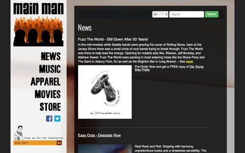 Screenshot of Home Page mainmanrecords.com - Main Man Records - Main Man Records - captured Dec. 21, 2015