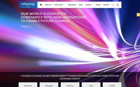 Screenshot of Home Page utiligroup.com - Home - Utiligroup - captured Nov. 15, 2017