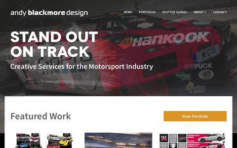 Screenshot of Home Page andyblackmoredesign.com - Andy Blackmore Design - Livery Design & Vehicle Styling - captured Sept. 30, 2014