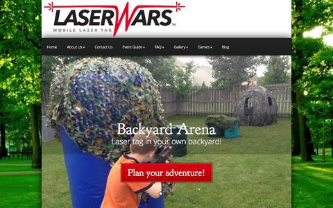 Screenshot of Home Page laser-wars.com - Laser Wars   Outdoor & Indoor Mobile Laser Tag Service - captured Sept. 29, 2014