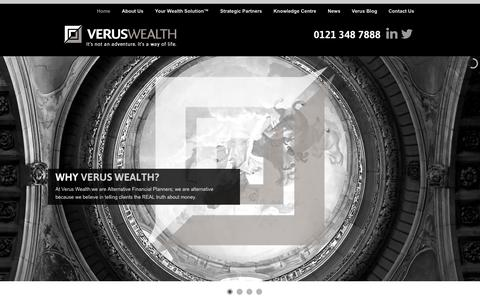 Screenshot of Home Page verus-wealth.co.uk - VERUS WEALTH - Financial Advice for Entreprenuers - captured Oct. 7, 2014