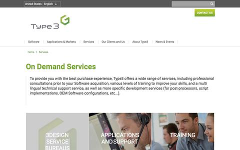 Screenshot of Services Page type3.us - Type3 Technical support, on-demand services, training | Type3 - captured Nov. 13, 2016