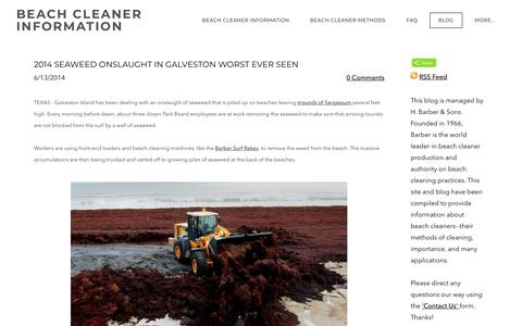 Screenshot of Blog beachcleaner.com - BEACH CLEANER INFORMATION - Beach Cleaner Blog - captured April 24, 2018