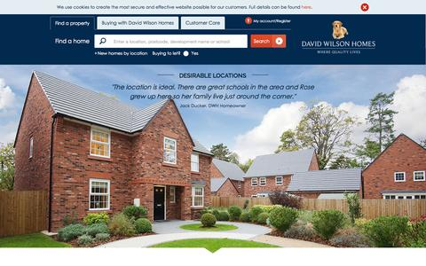 Screenshot of Home Page dwh.co.uk - Buy New Homes   David Wilson Homes - captured Oct. 2, 2015