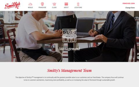 Screenshot of Team Page smittys.ca - Management - captured Oct. 20, 2018