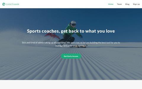 Screenshot of Home Page coachseek.com - CoachSeek - captured Jan. 20, 2015