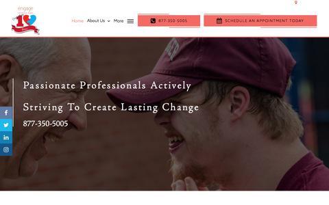 Screenshot of Home Page engagebehavioralhealth.com - Applied Behavior Analysis, ABA Therapy Tampa - Engage Behavioral Health - captured April 29, 2018