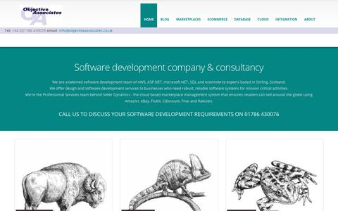 Screenshot of Home Page objectiveassociates.co.uk - Software development company Scotland | AWS, microsoft.NET, SQL, ecommerce, amazon consultants UK - captured Oct. 20, 2018