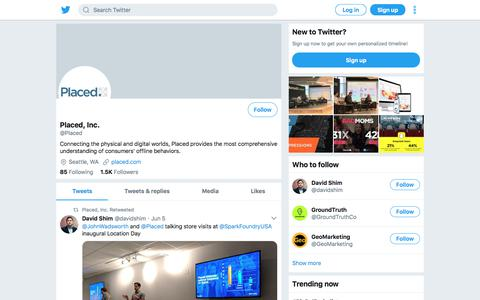 Tweets by Placed, Inc. (@Placed) – Twitter