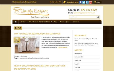 Screenshot of Blog simplyelegantchaircovers.com - Chair Cover For Sale | Cheap Linens For Sale | Chair Covers For Rent - captured Nov. 7, 2018