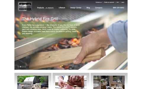 Screenshot of Home Page kalamazoogourmet.com - Custom Outdoor Kitchens for Gourmet Outdoor Cooking - captured Sept. 22, 2014