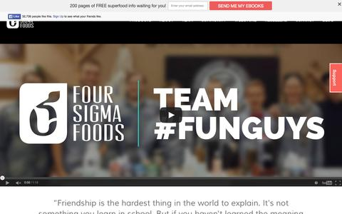 Screenshot of Team Page foursigmafoods.com - Team Behind Superfood Mushrooms | Four Sigma Foods - captured Aug. 3, 2015