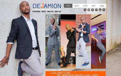 Screenshot of Home Page dejamion.com - dejamion - captured Oct. 5, 2014
