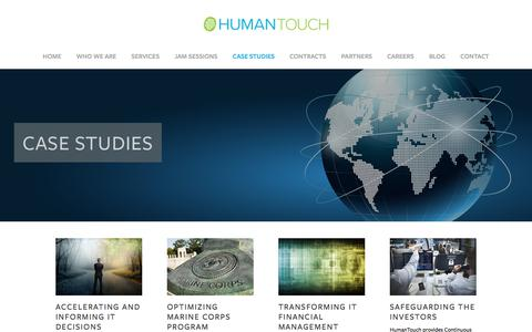 Screenshot of Case Studies Page humantouchllc.com - Case Studies — HT Corporate - captured July 24, 2018