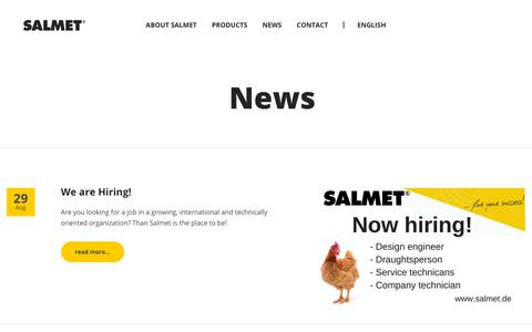 Screenshot of Press Page salmet.de - News | Salmet - captured Oct. 1, 2018