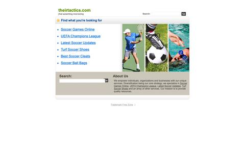 Screenshot of Home Page theirtactics.com - Theirtactics.com - captured Dec. 3, 2018