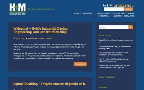 Screenshot of Blog hm-ec.com - H+M Industrial EPC Blog Page - captured Jan. 24, 2016