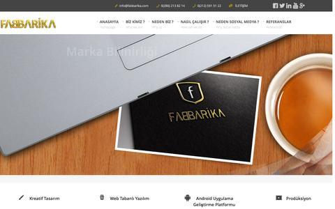 Screenshot of Home Page fabbarika.com - fabbarika - captured Sept. 30, 2014