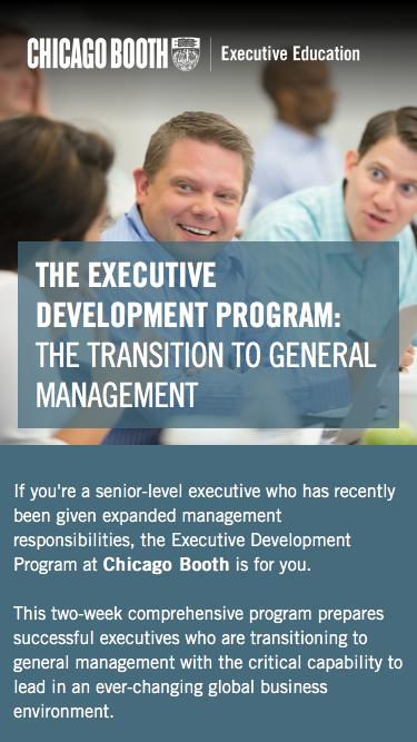 Executive Education at Chicago Booth | Executive Development