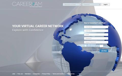 Screenshot of Home Page careeriam.com - CareerIam - captured May 14, 2017