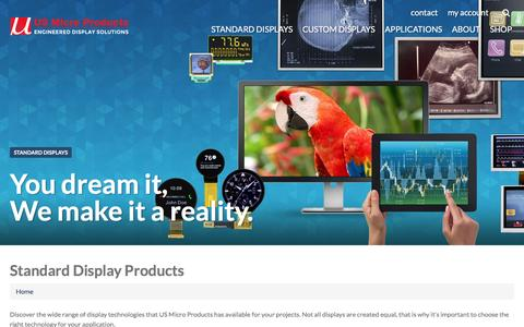 Screenshot of Products Page usmicroproducts.com - Standard Display Products | US Micro Products - captured June 2, 2016