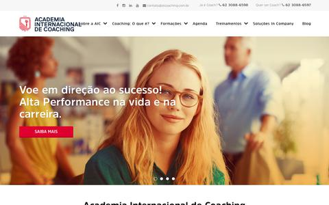 Screenshot of Home Page aicoaching.com.br - Academia Internacional de Coaching - captured Oct. 6, 2017