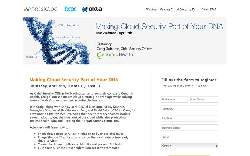 Webinar: Making Cloud Security Part of Your DNA