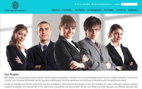 Screenshot of Team Page qssindia.com - Our People - captured Nov. 8, 2016